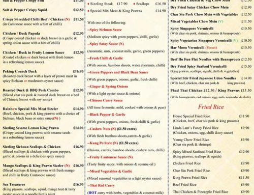 New menu Mains